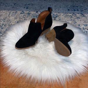 Jeffrey Campbell black suede boots - sz 8.5